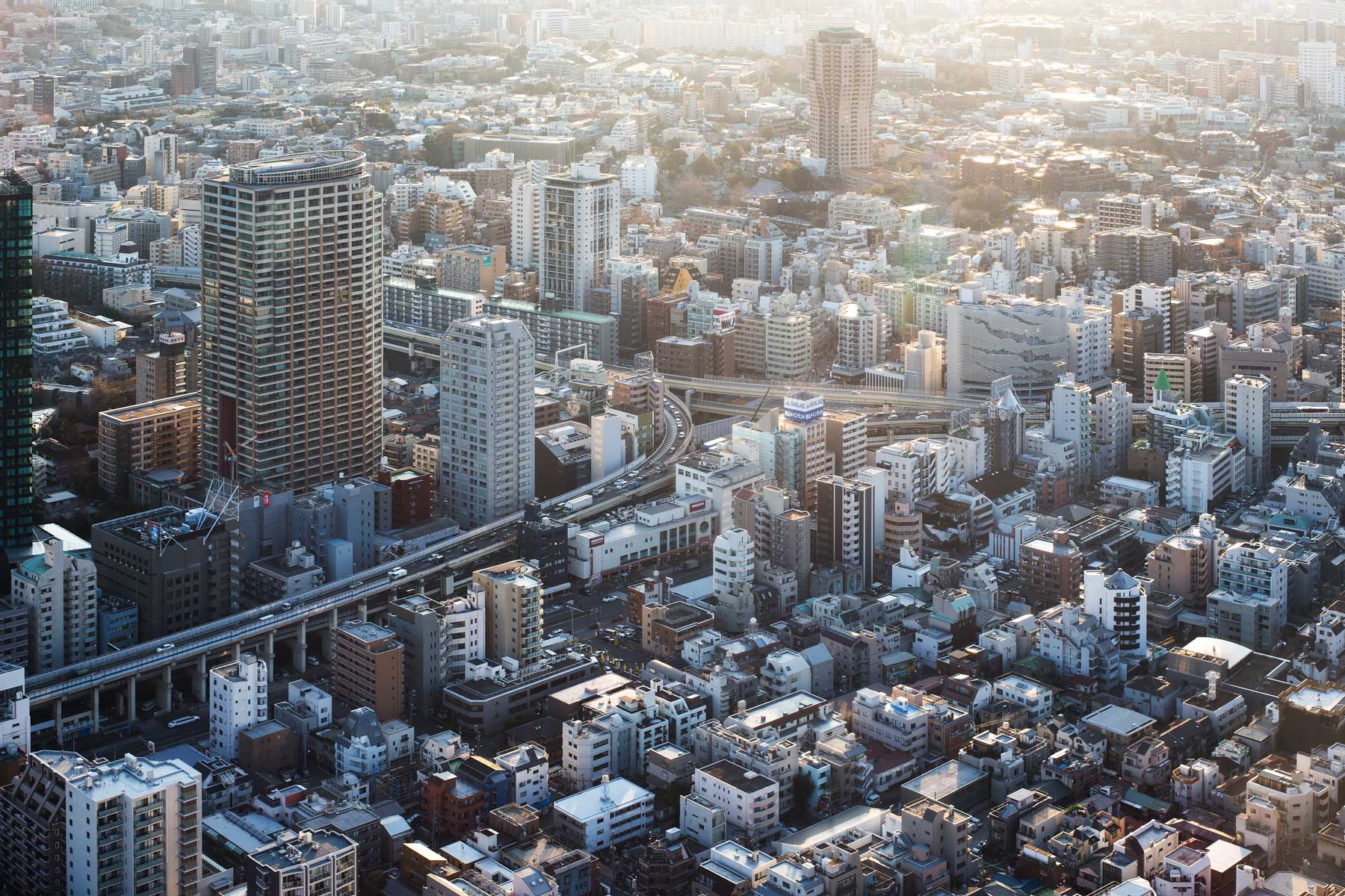 Sicht vom Skytree-Tower auf das spektakuläre Tokio/ Japan, 2014