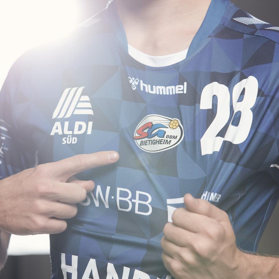 Werbefotografie, Handballspieler Lukas Urban, SGBBM Bietigheim, Nino Strauch