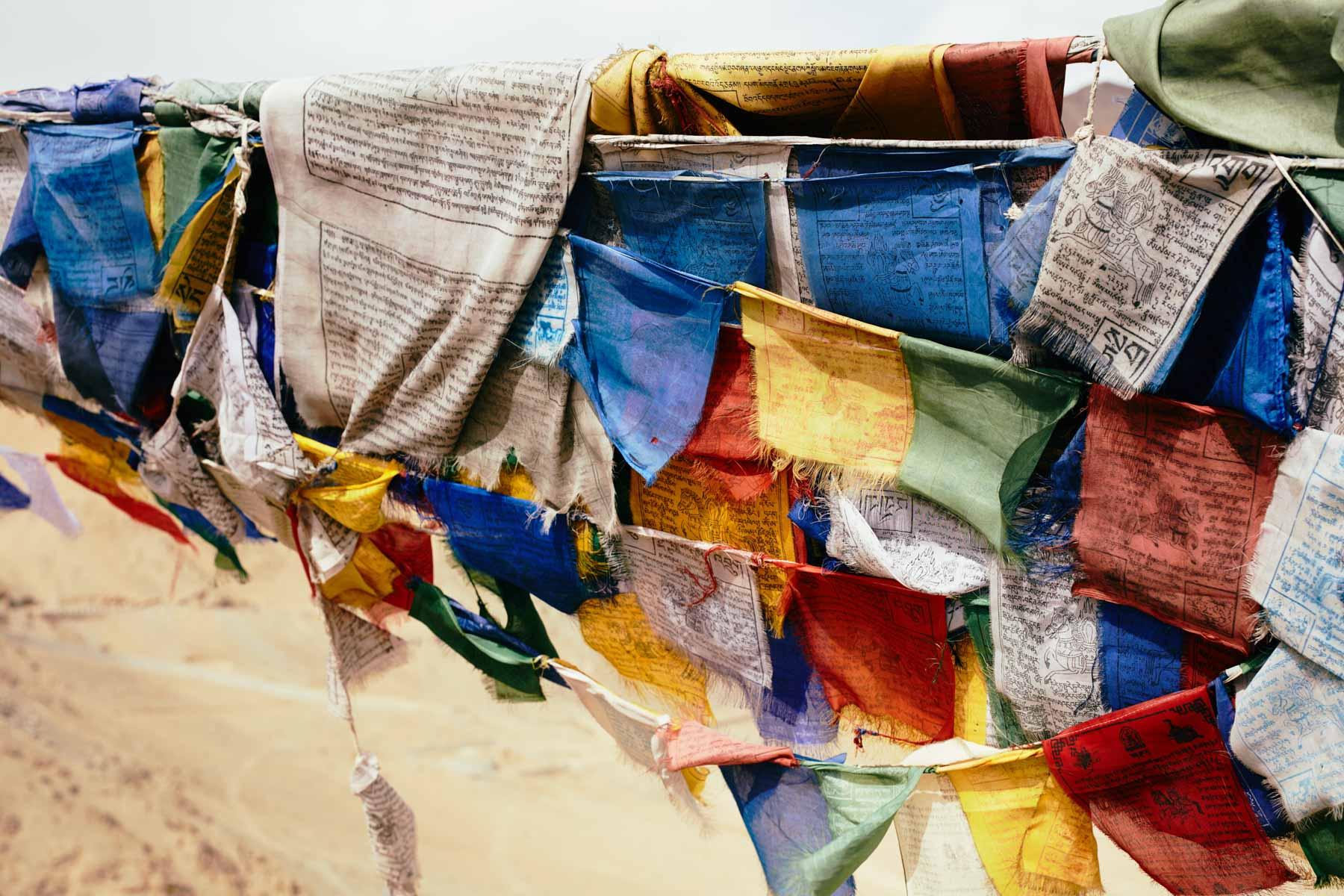 Buddhistische Gebetsfahnen in Leh/ Ladakh/ Indien, 2018