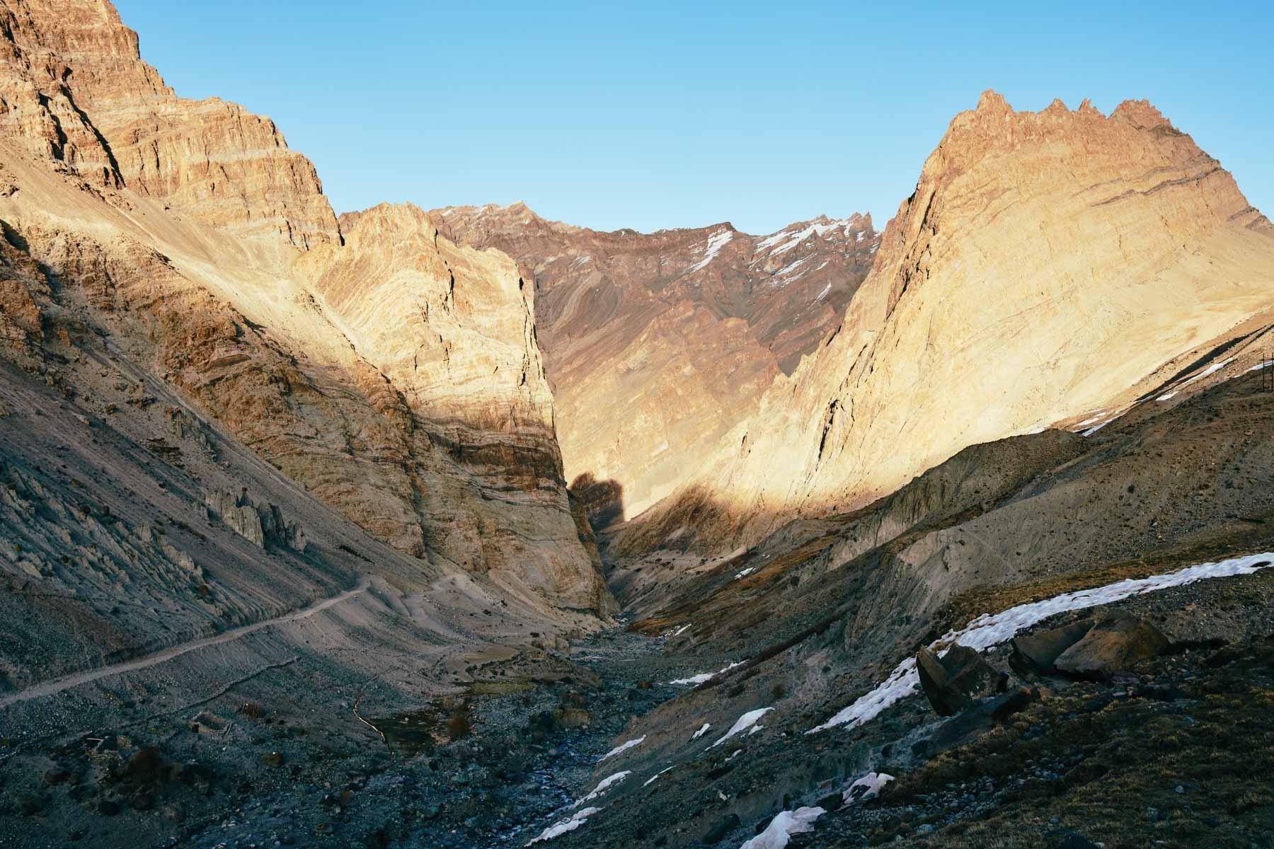 Photoksar vor Sonnenuntergang/ Ladakh/ Indien, 2018