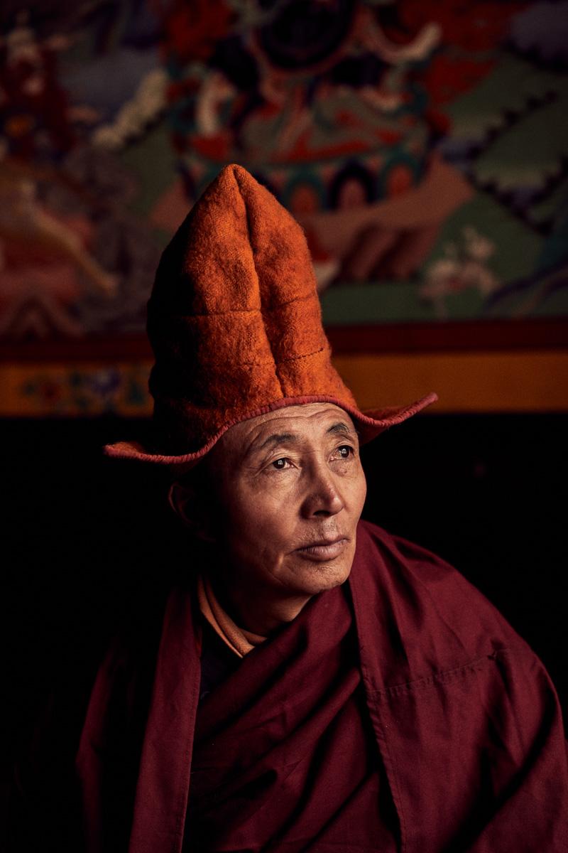 Portrait von Lama Thsepel im Kloster von Lingshed/ Ladakh/ Indien, 2018