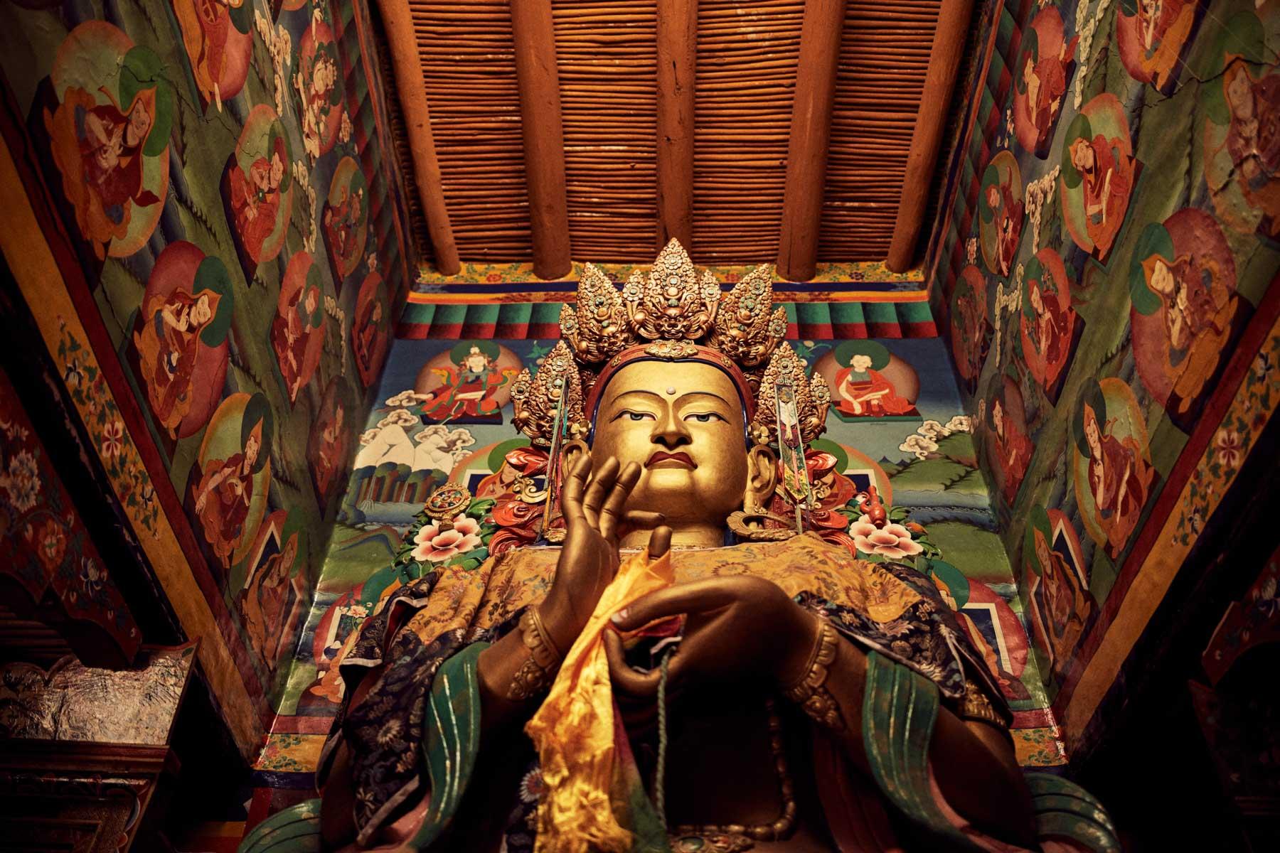 Eine Buddha Statue im Kloster von Lingshed/ Ladakh/ Indien, 2018