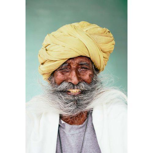 Portrait, lachender Inder | Nino Strauch Fotograf Tübingen | limitierter Kunstdruck
